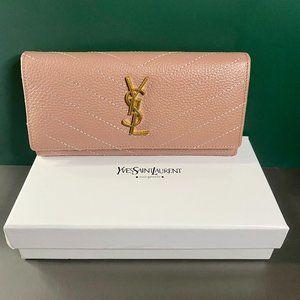 🎼S-aint L-aurent🎼 Long Pink Wallet